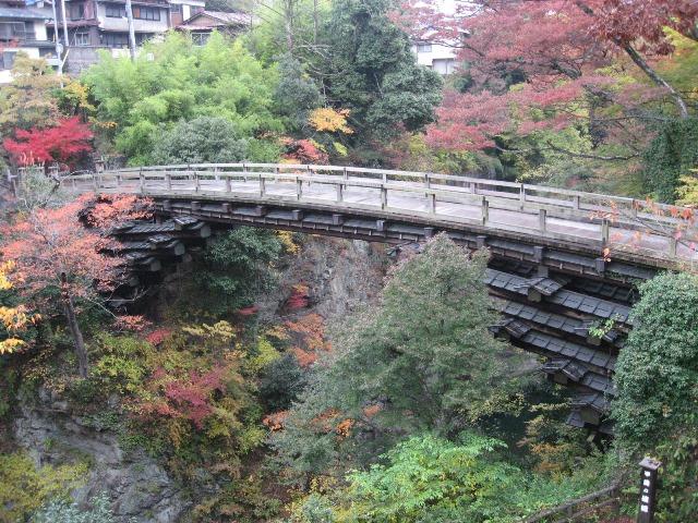紅葉の時期の猿橋